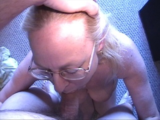 fair-haired grandma fucked doggy