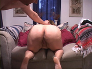 long-haired chubby mom sucking