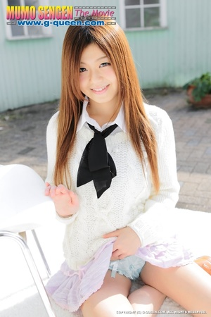 Red Asian school girl in white blouse participating in explicit session - XXXonXXX - Pic 5