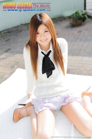 Red Asian school girl in white blouse participating in explicit session - XXXonXXX - Pic 6