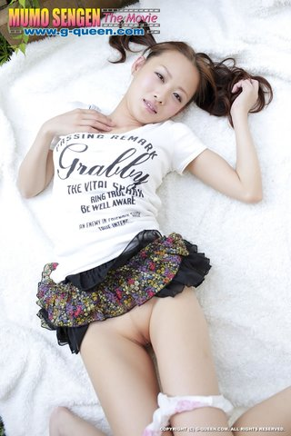 red asian teen chick