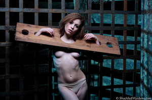 Brunette chick in beige panties posing i - XXX Dessert - Picture 5