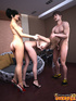 Horny dude with a beard enjoys drilling hot asses of two nasty trannies