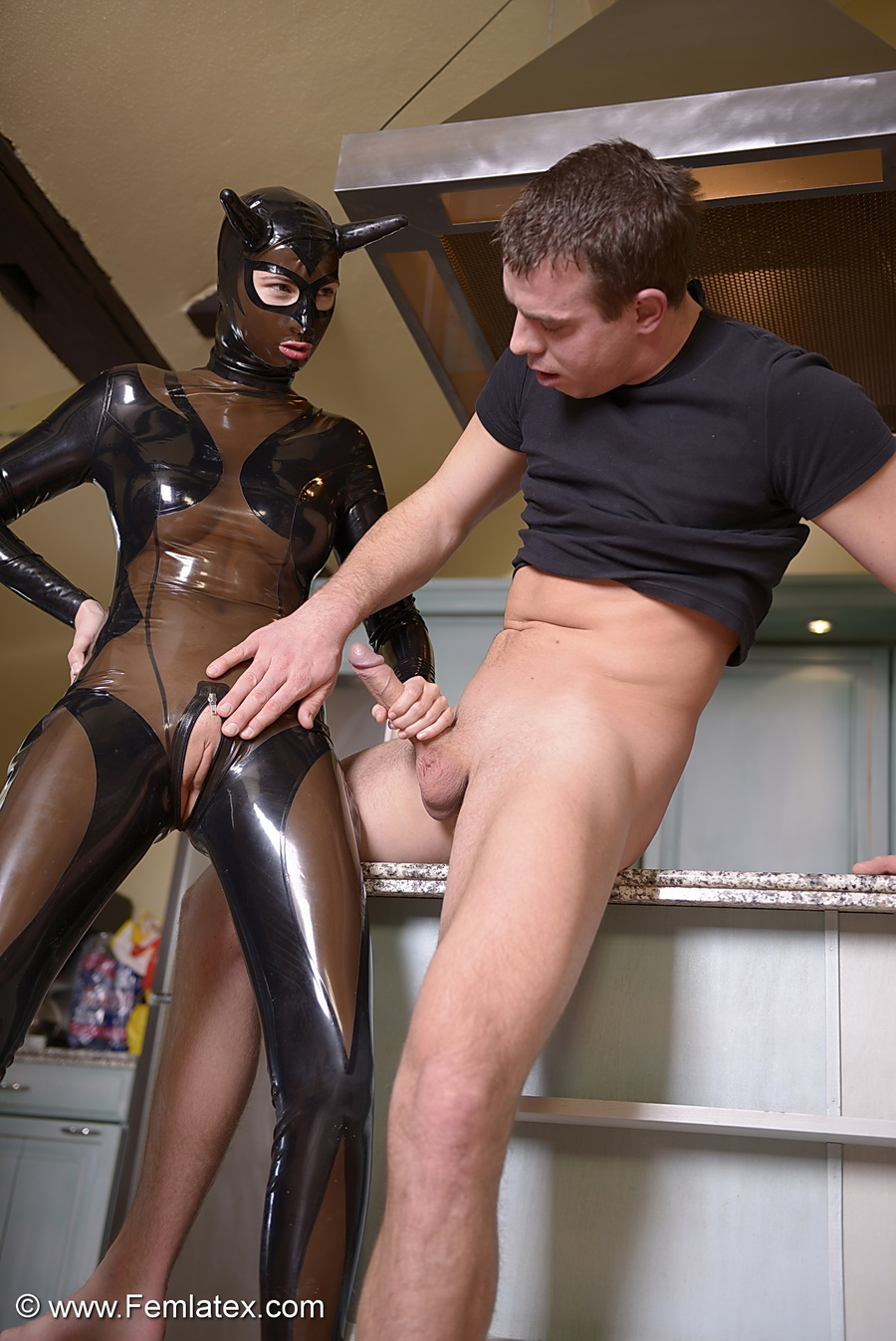 Black Latex Devil Girl Fucks And Sucks Her - Xxx Dessert -1186