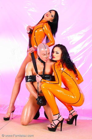 Two black haired flexible sexbabes in or - XXX Dessert - Picture 2