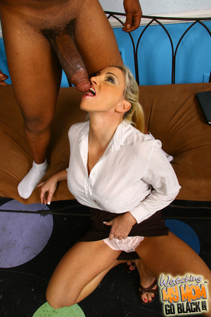 Blond materu rides black fatty rod. - XXX Dessert - Picture 9