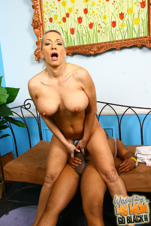 Blond materu rides black fatty rod. - XXX Dessert - Picture 10