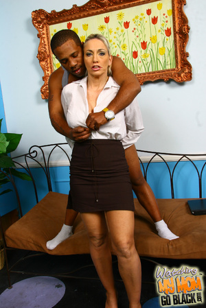 Blond materu rides black fatty rod. - XXX Dessert - Picture 11