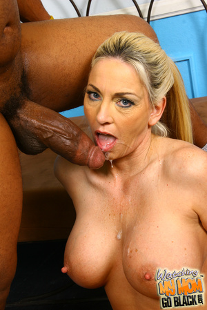 Blond materu rides black fatty rod. - XXX Dessert - Picture 15