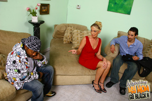 Shy blond mommy is tricked by black plum - XXX Dessert - Picture 3
