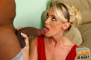 Shy blond mommy is tricked by black plum - XXX Dessert - Picture 7