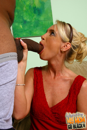 Shy blond mommy is tricked by black plum - XXX Dessert - Picture 9