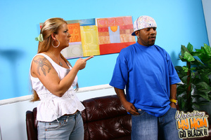 Kinky tattoo lady molested by black gang - XXX Dessert - Picture 3