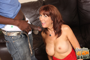 Slutty mom takes two black big fat cocks - XXX Dessert - Picture 7