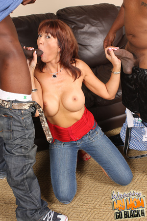 Slutty mom takes two black big fat cocks - XXX Dessert - Picture 8