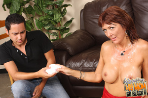 Slutty mom takes two black big fat cocks - XXX Dessert - Picture 15