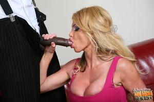 Good loocking blond rides black phytons. - XXX Dessert - Picture 6