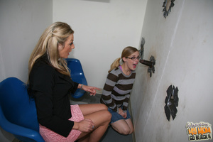 Shy teens suck dick from gloryhole. - XXX Dessert - Picture 4