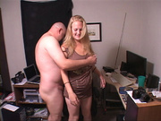 horny secretary gives her