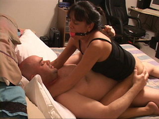 Abused brunette wife fucked hard and gets cum on her - Picture 3