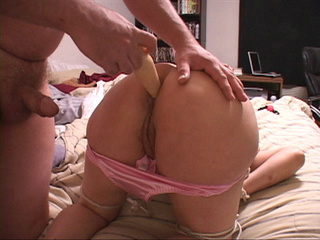Hubby fucks her tied-up wife in her ass with a dildo - Picture 4