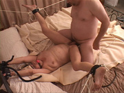 tied-up grandma spreads her