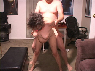 greying chubby granny butt-fucked