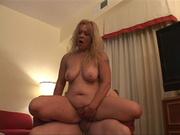 horny charming lady climbs