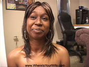 alluring ebony babe smiles