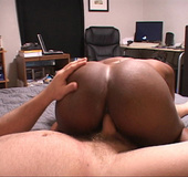 Sweet hot anal fuck action as black mama bends head down for hot ass fucking