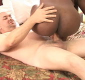Hot sexy mama raises legs over head for sweet ass fucking from white dude