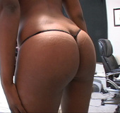 Sexy hot ebony takes nude shots of her big ass then takes big cock in