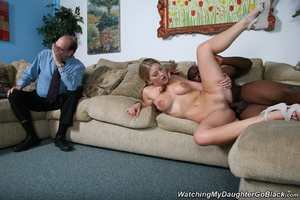 Teen surprised by her father in the midd - XXX Dessert - Picture 13