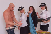 hot lady officers playing