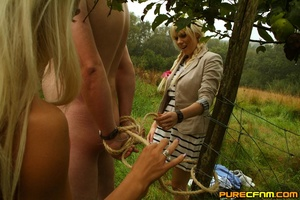 Two horny blonds chained a man to have t - XXX Dessert - Picture 5