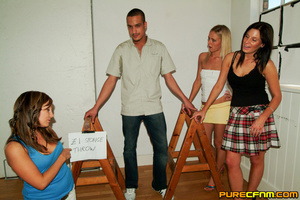 Horny college ladies tricked their male  - XXX Dessert - Picture 1