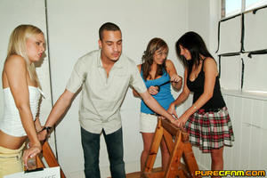 Horny college ladies tricked their male  - XXX Dessert - Picture 2