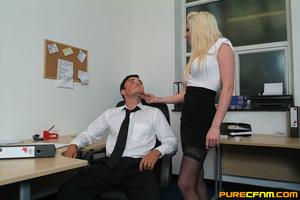 Kinky women played an office man for a h - XXX Dessert - Picture 1