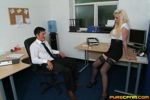 Kinky women played an office man for a h - XXX Dessert - Picture 2