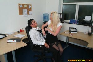 Kinky women played an office man for a h - XXX Dessert - Picture 3