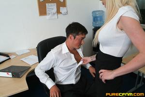 Kinky women played an office man for a h - XXX Dessert - Picture 4