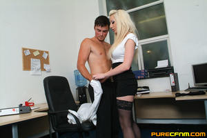 Kinky women played an office man for a h - XXX Dessert - Picture 5
