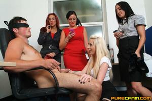 Kinky women played an office man for a h - XXX Dessert - Picture 8