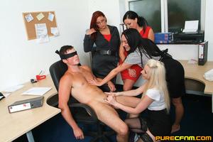 Kinky women played an office man for a h - XXX Dessert - Picture 10