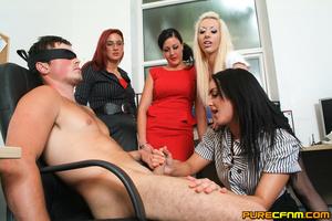 Kinky women played an office man for a h - XXX Dessert - Picture 11