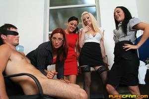 Kinky women played an office man for a h - XXX Dessert - Picture 12