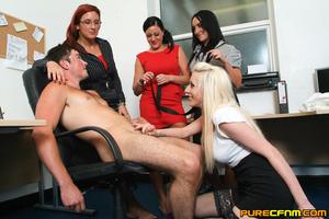 Kinky women played an office man for a h - XXX Dessert - Picture 13
