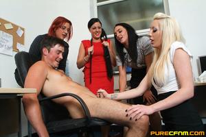 Kinky women played an office man for a h - XXX Dessert - Picture 15