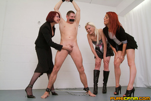 Four naughty ladies punished a man by st - XXX Dessert - Picture 3