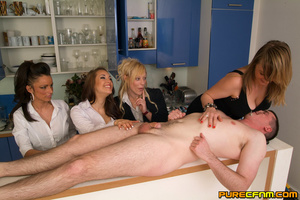 Four naughty sexy ladies caressing his d - XXX Dessert - Picture 13